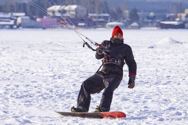 Сноуборд кайт