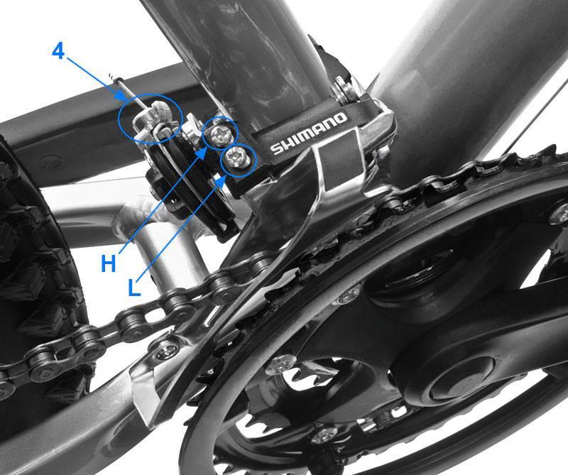 Регулировка передач велосипеда