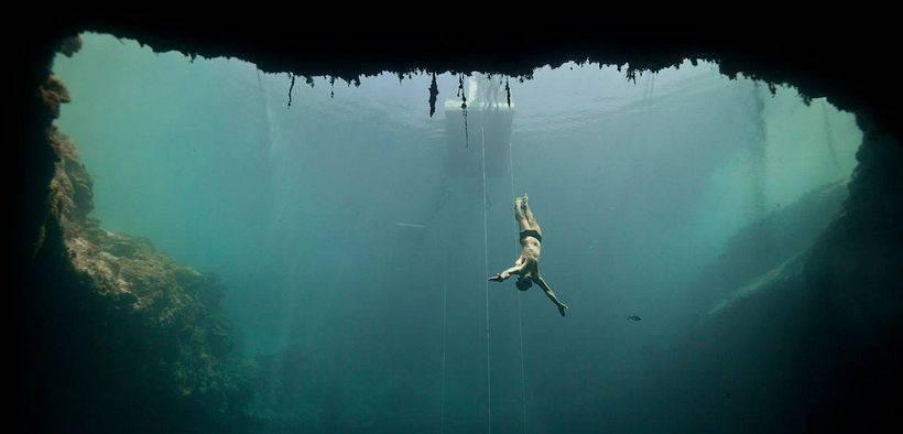 Ныряние на глубину без акваланга рекорд