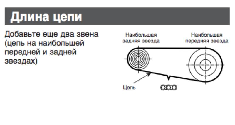 Способ определения длины цепи велосипеда от shimano