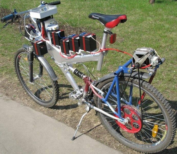 Установка на велосипед двигателя