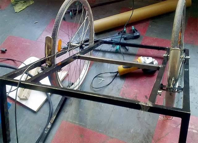 Переделка рамы для трёхколёсного велосипеда