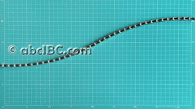 Велосипедная цепь с максимальным перекосом