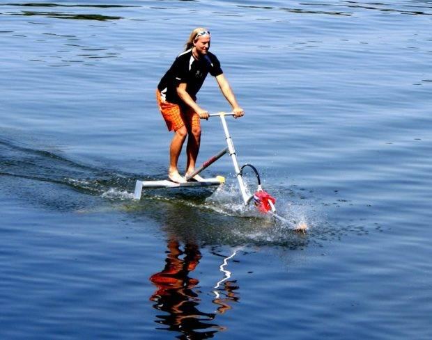 Катамаран водный велосипед