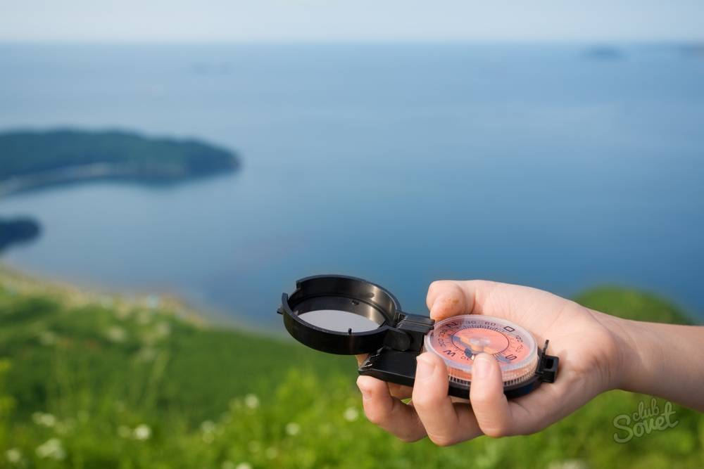 Как найти азимут по компасу