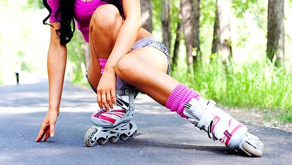 Как научиться кататься на роликовых коньках