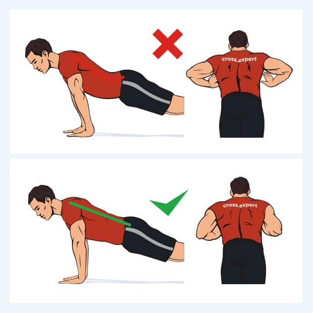 Комплекс упражнений отжимания от пола
