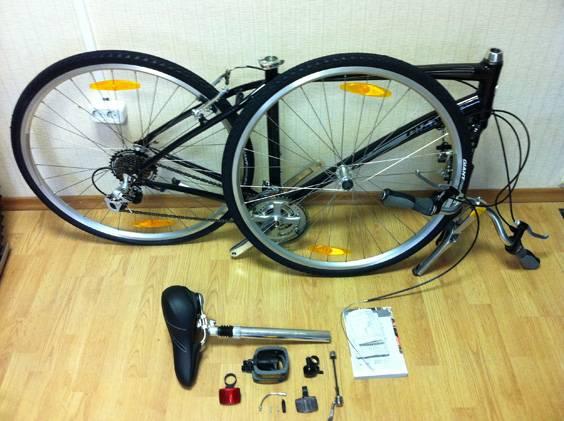 Велосипед готов к сборке