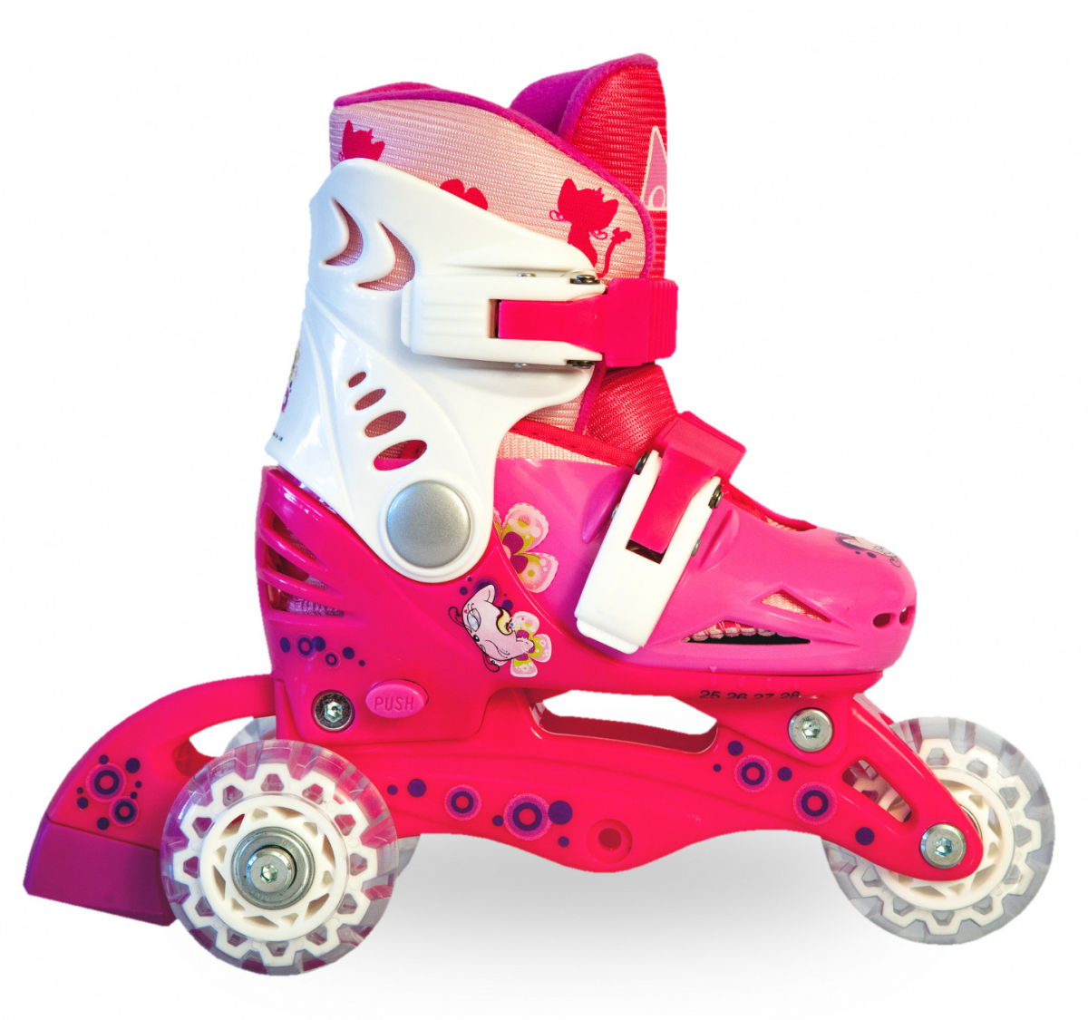 Трёхколёсные роликовые коньки - 1
